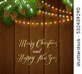holiday lettering merry... | Shutterstock .eps vector #532439290