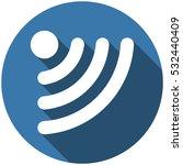wifi icon vector flat design... | Shutterstock .eps vector #532440409