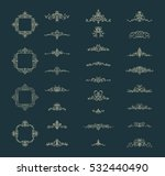 vintage decor elements and... | Shutterstock .eps vector #532440490
