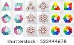 vector circle infographic set.... | Shutterstock .eps vector #532444678
