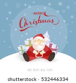 merry christmas and happy new...   Shutterstock .eps vector #532446334