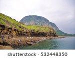 a bluff beside the beach | Shutterstock . vector #532448350