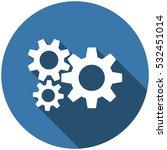 gear icon vector flat design... | Shutterstock .eps vector #532451014