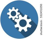gear icon vector flat design... | Shutterstock .eps vector #532451050