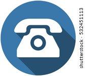 phone icon vector flat design... | Shutterstock .eps vector #532451113