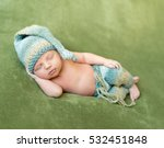Lovely Newborn Baby In Knitted...