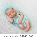 Lovely Sleeping Baby With Blue...