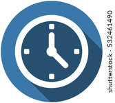 clock icon  vector flat design...