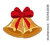 jingle bells with red bow | Shutterstock .eps vector #532461838