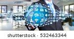 businessman holding digital web ... | Shutterstock . vector #532463344