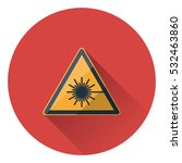 laser hazard sign. flat style... | Shutterstock .eps vector #532463860