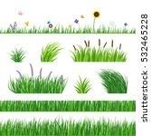 Green Seamless Grass Elemnts....