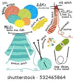 knitter's tools and accessories ... | Shutterstock .eps vector #532465864