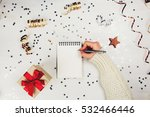 holiday decorations and... | Shutterstock . vector #532466446