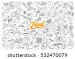 hand drawn set of healthy food... | Shutterstock .eps vector #532470079