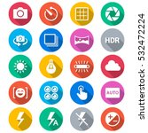 photography flat color icons | Shutterstock .eps vector #532472224