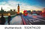big ben and westminster bridge... | Shutterstock . vector #532474120