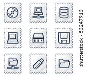 drives and storage web icons ... | Shutterstock .eps vector #53247913
