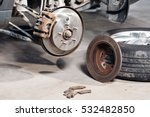 brake disc. replacement of the... | Shutterstock . vector #532482850