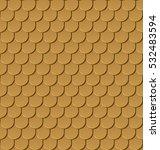 seamless gold roof tiles vector ... | Shutterstock .eps vector #532483594