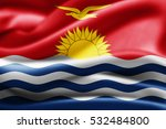 kiribati flag of silk 3d... | Shutterstock . vector #532484800