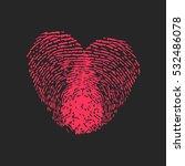 heart of fingerprints on dark... | Shutterstock .eps vector #532486078