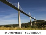 the millau viaduct  a cable...