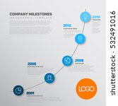 vector infographic timeline... | Shutterstock .eps vector #532491016