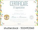 certificate retro design... | Shutterstock .eps vector #532492060