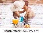 romantic asian couple kissing...   Shutterstock . vector #532497574