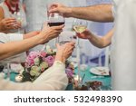 people holding glasses of wine. ... | Shutterstock . vector #532498390