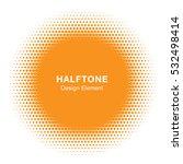 sunny circle halftone logo... | Shutterstock .eps vector #532498414