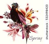 beautiful spring illustration... | Shutterstock .eps vector #532498420
