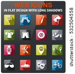 bicycle icons set in flat... | Shutterstock .eps vector #532504558