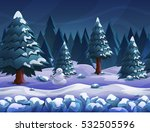 seamless cartoon nature winter...