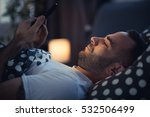 young cell phone addict man...   Shutterstock . vector #532506499