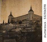 Small photo of Fortress Alcazar in Toledo, Castile, Spain