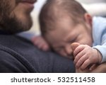 father with his newborn baby... | Shutterstock . vector #532511458
