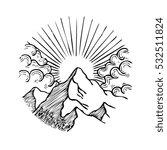 circle mountain vector... | Shutterstock .eps vector #532511824