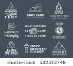 camping logo design set with... | Shutterstock . vector #532512748