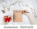 holiday decorations and... | Shutterstock . vector #532513153