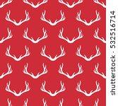 christmas antlers silhouette... | Shutterstock .eps vector #532516714
