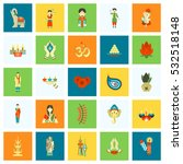 diwali. indian festival icons.... | Shutterstock .eps vector #532518148