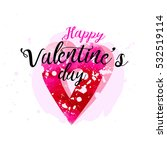 happy valentine's day post card ... | Shutterstock .eps vector #532519114