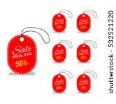 red sale labels set. | Shutterstock .eps vector #532521220