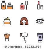 cosmetics line icons | Shutterstock .eps vector #532521994