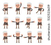 set of smart and cute character ... | Shutterstock .eps vector #532523659