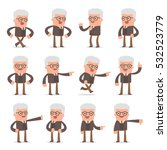 set of smart and cute character ... | Shutterstock .eps vector #532523779