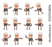 set of smart and cute character ... | Shutterstock .eps vector #532523806