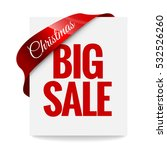 big christmas sale. label ... | Shutterstock .eps vector #532526260